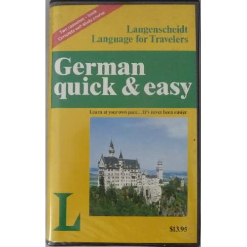 Image 0 of German Quick And Easy Langenscheidt Language For Travelers By Quick And Easy And