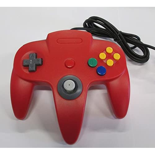 Image 0 of Nintendo Red Replacement Controller By Mars Devices Gamepad For N64