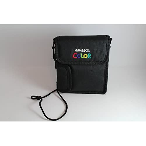 Game Boy Color Carrying Case Black With Multi-Colored Letters On Gameboy Color C