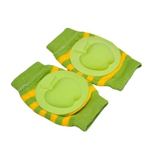 Baby Crawling Knee Pad Toddler Elbow Pads Stripe Green Apple Pads