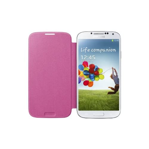 Image 2 of Samsung Galaxy S4 Flip Cover Folio Case Pink Fitted EF-F1950BPESTA