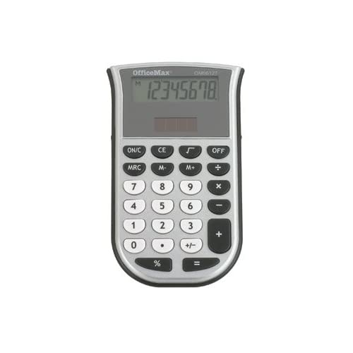 OfficeMax 8 Digit Handheld Calculator Basic