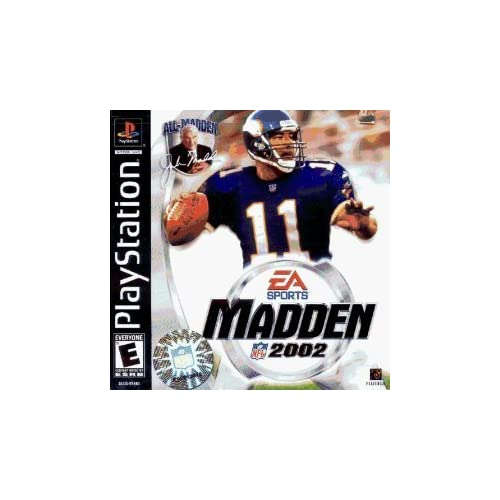 Image 0 of Madden NFL 2002 For PlayStation 1 PS1 Football