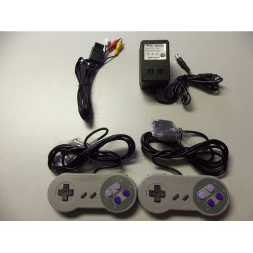 Image 0 of Super Nintendo SNES Controllers AV Cable Power Adapter Bundle