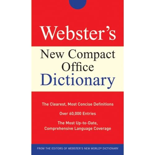 Webster's New Compact Office Dictionary By Agnes Michael E Paperback