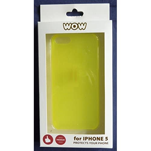Image 0 of WoW For iPhone 5 5S SE Yellow Case Cover Fitted