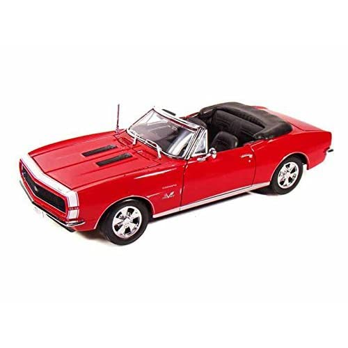 1967 Chevy Camaro Ss 396 Convertible 1/18 Red By Collectable Diecast