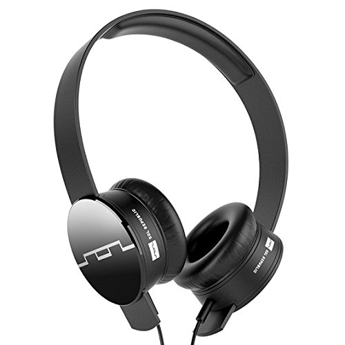 Sol Republic 1211-01 Tracks On-Ear Interchangeable Headphones With 3-BUTTON Mic