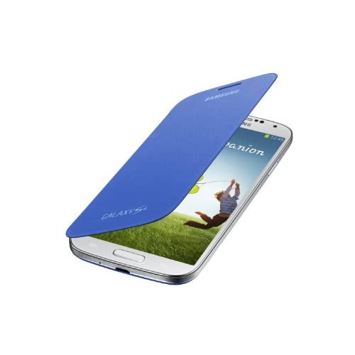 Samsung Galaxy S4 Flip Cover Folio Case Light Blue Fitted