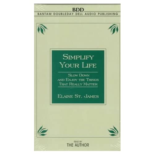 Image 0 of Simplify Your Life By St James Elaine St James Elaine Reader On Audio Cassette
