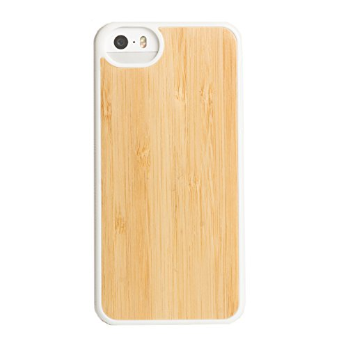 AGENT18 iPhone 5 5S SE Inlay Bamboo With White Trim Case Cover