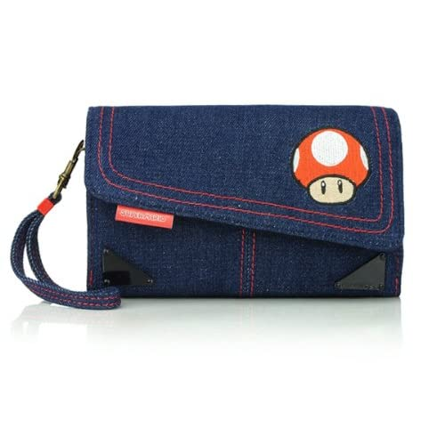 Image 0 of Universal Super Mario Denim Case For DS Blue Game