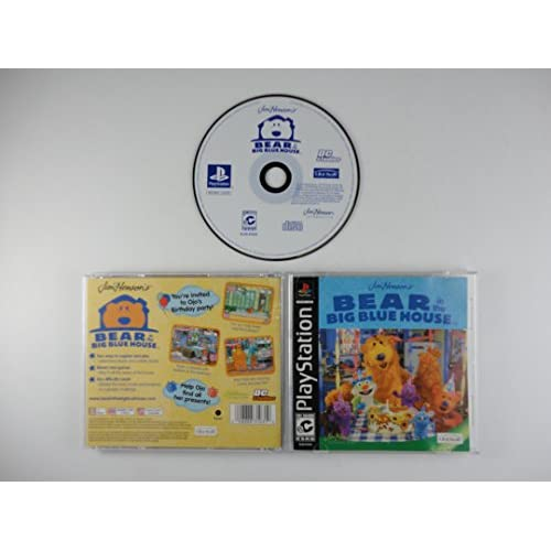 Bear In Big Blue House Ps Psx For PlayStation 1 PS1 With Manual and Case