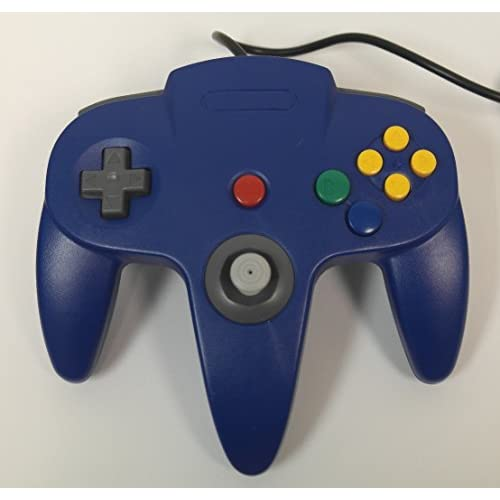 Image 0 of Nintendo Blue Replacement Controller By Mars Devices Gamepad For N64