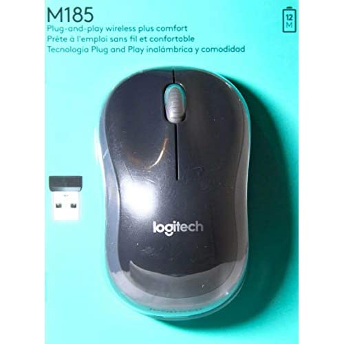 Image 0 of Logitech Wireless Mouse M185 Swift Grey Gray