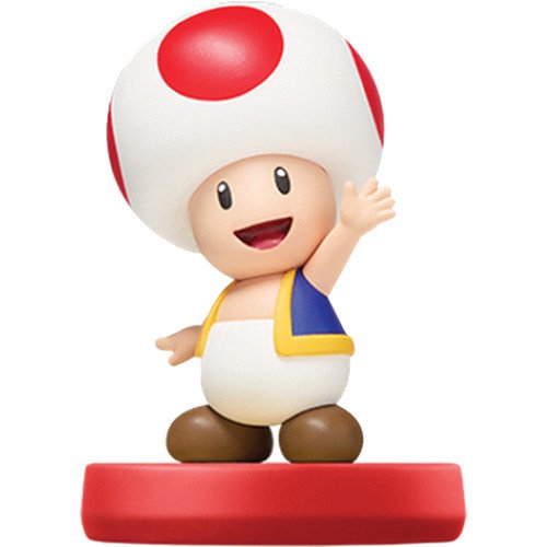 Image 0 of Toad Amiibo Super Mario Bros Series Figure Character