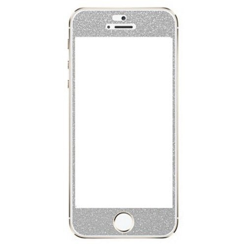 Agent 18 Decorative Screen Protector For iPhone 5/5S/5C Silver Glitter TGI459