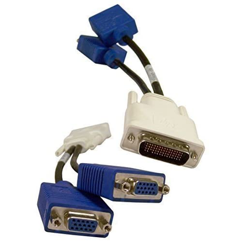 Printer Cable Splitter Two Computers : Hp lfh dms to dual vga y splitter cable dvi