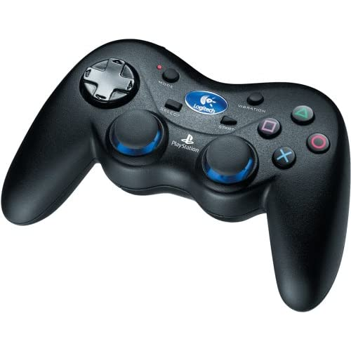 Image 0 of Logitech Cordless Action Controller For PlayStation 2 PS2 Black IOP306 Gamepad