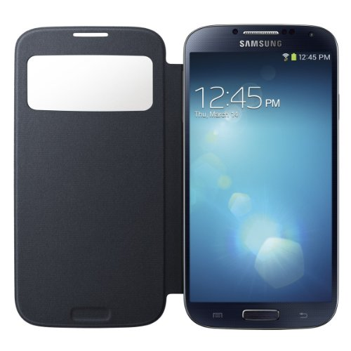 Image 3 of Samsung Galaxy S4 S-View Flip Cover Folio Case Black