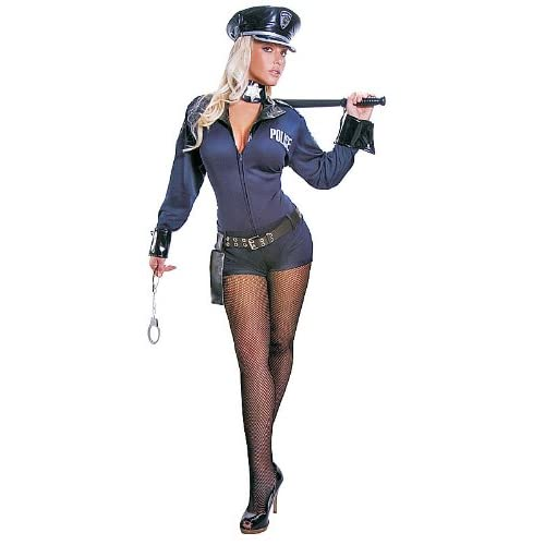 Adult Sexy Police Officer Costume Set Small