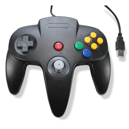 Classic USB Wired Controller For PC And MAC Black For N64 Nintendo