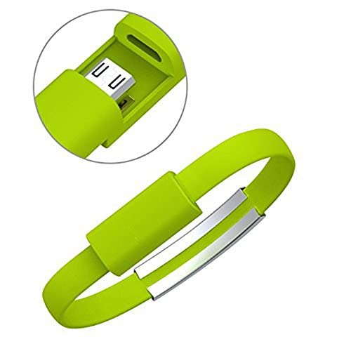 Image 0 of Micro USB Cable Bracelet For Android Smartphones And Other Devices Lime Green Ch