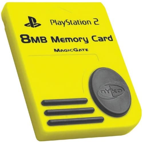 8MB Memory Card Yellow For PlayStation 2 PS2 Expansion PS80516