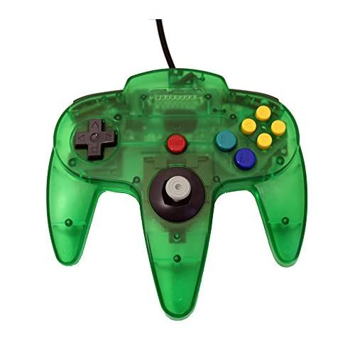 Image 1 of Transparent Green Replacement Controller For Nintendo 64
