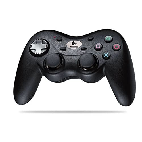 Image 0 of Logitech Cordless Precision Controller Gamepad For PlayStation 3 PS3 Black 940-0