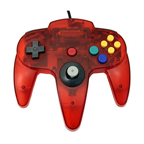 Image 1 of Transparent Red Replacement Controller For N64