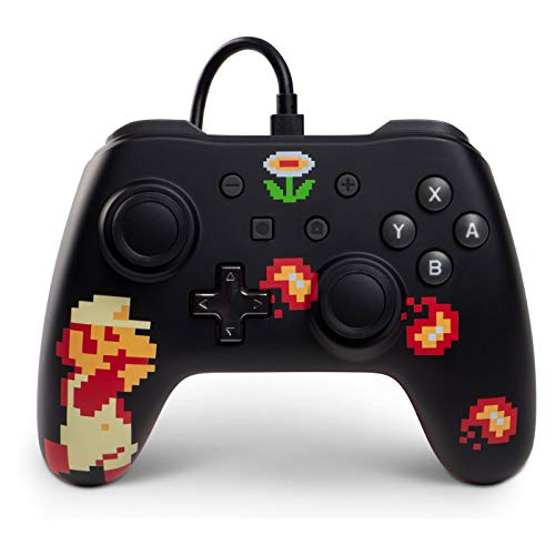PowerA Wired Controller For Nintendo Switch Retro 8-BIT Super Mario Multicolor G