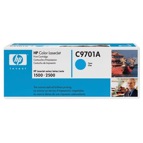 Hewlett Packard OEM Toner Cartridge C9701A Cyan 1 Cartridge C9701A Ink