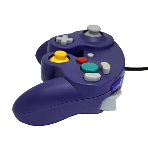 Image 3 of GameCube USB Controller Purple For Windows MAC And Linux By Mars