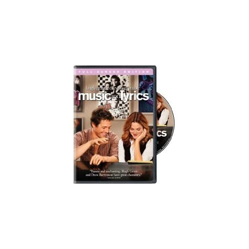 Image 0 of Music And Lyrics Full Screen Edition With Hugh Grant Comedy On DVD