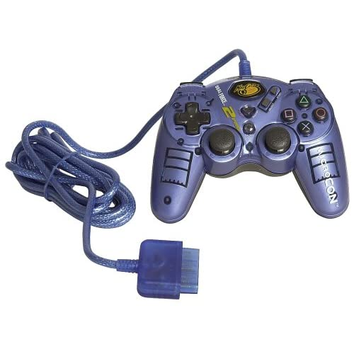 Image 0 of Microcon Madcatz Dual Force 2 Controller For PlayStation 2 PS2 Blue 8236 Black B