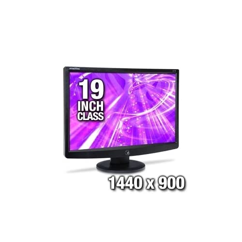 Emachines E191W Bm LCD Display TFT 19 Inch Widescreen Black Monitor