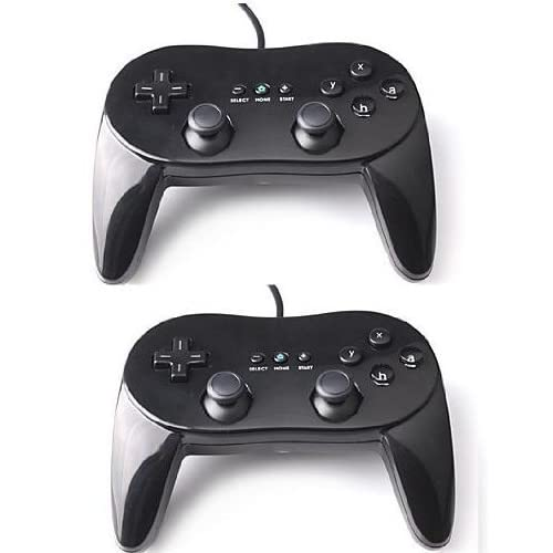 Image 0 of Lot Of 2 X Classic Controller Pro For Nintendo Wii Black