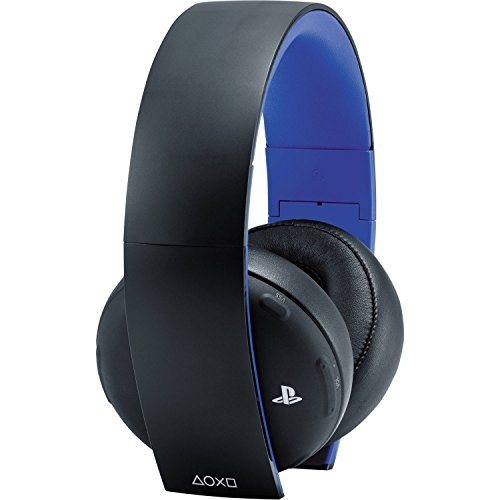 playstation gold wireless stereo headset jet black for. Black Bedroom Furniture Sets. Home Design Ideas