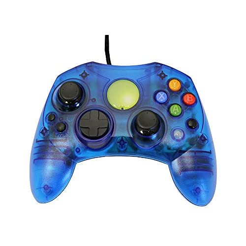 Image 0 of Replacement Controller For Xbox Original Blue Transparent By Mars Devices