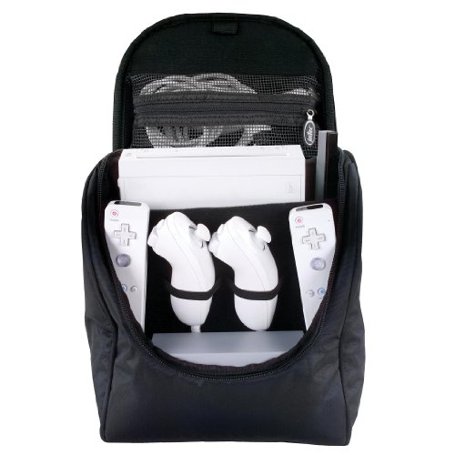 Image 0 of Console Back Pack For Wii Black Travel CAZ239