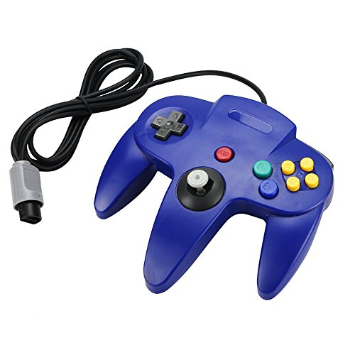 Image 0 of Blue Long Handle Controller Pad For Nintendo 64 System For N64