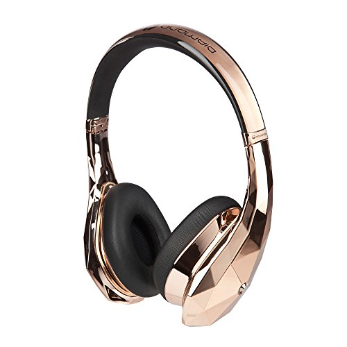 Monster Diamondz Rose Gold On-Ear Headphones Apple And Universal Ct Rose Gold Ea