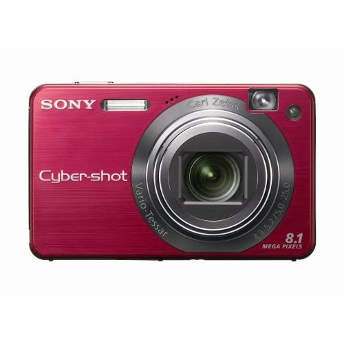 Sony Cybershot DSCW150/R 8.1MP Digital Camera With 5X Optical Zoom With Super St