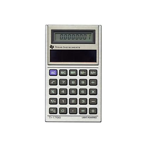 Texas Instruments Mini Light Powered Calculator TI-1766
