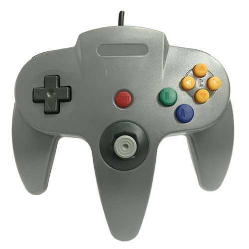 Image 0 of Generic Wired Game Controller For N64 Color Gray