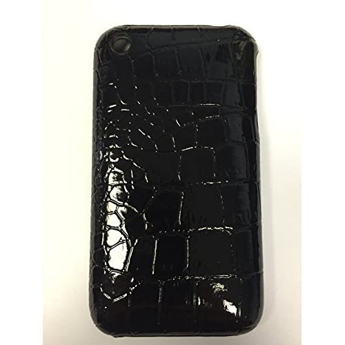 Image 0 of iCover Black Alligator Skin Case For iPhone 3G 3GS Cover