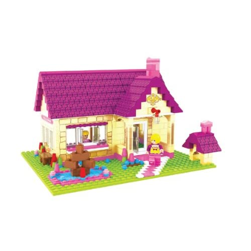 2 Item Bundle: Brictek Fairyland Townhouse 457 Pcs Building Blocks Compatible Wi
