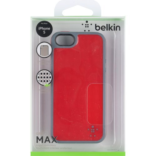 Belkin Grip Candy Max Cell Phone Case For iPhone 5 5S SE Red/slate Cover