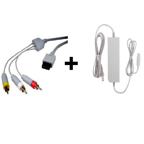 Image 0 of Wii AV Cable And Wii Power Supply